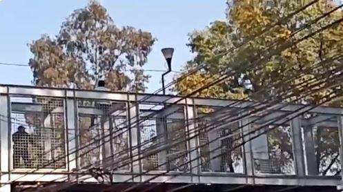 Policía evita que hombre se arrojé de un puente en la Narvarte