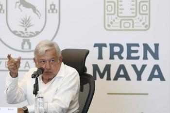 "López Obrador asegura que Tren Maya es una ""obra rentable"""