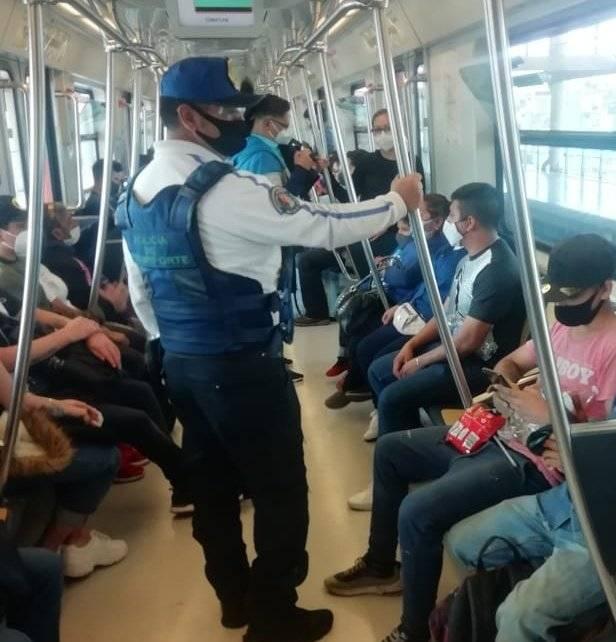 Registran 11 líneas del Metro 100 por ciento en uso de cubrebocas