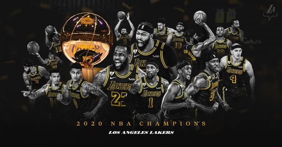 Los Lakers logran título 17 en la NBA