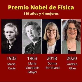 Sólo cuatro mujeres en la historia han recibido el Premio Nobel de Física