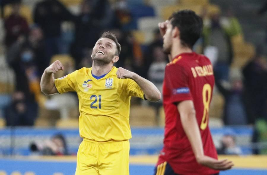 Ucrania le pega a España en la Nations League; Alemania y Suiza empatan