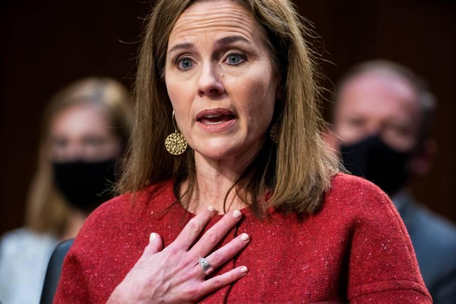 Amy Coney Barrett, evade responder sobre legalización del aborto