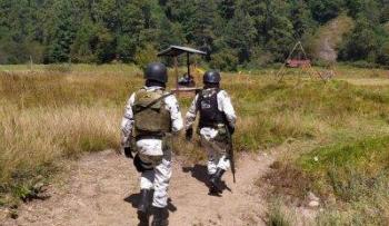 Guardia nacional previene los delitos ambientales en el parque nacional lagunas de Zempoala