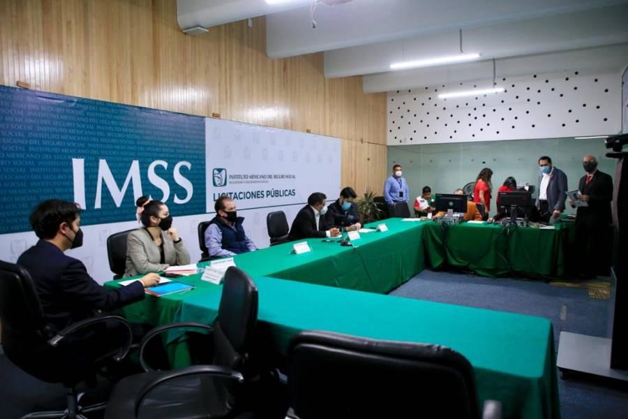 Transmiten en vivo licitaciones del IMSS
