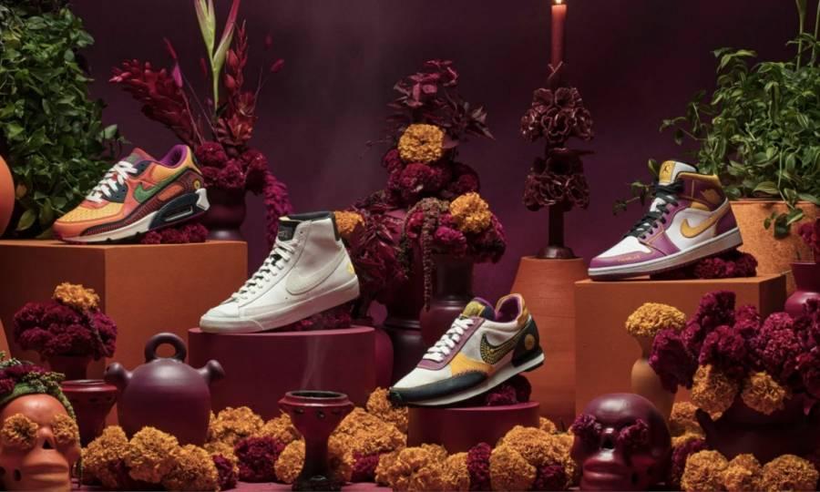 Lanza Nike una colección especial inspirada en el Día de Muertos