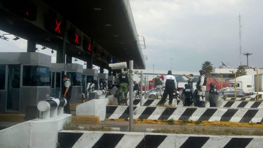Guardia Nacional recupera control de caseta en autopista México-Querétaro