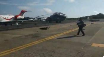 Helicóptero de Semar se desploma en aeropuerto de Villahermosa