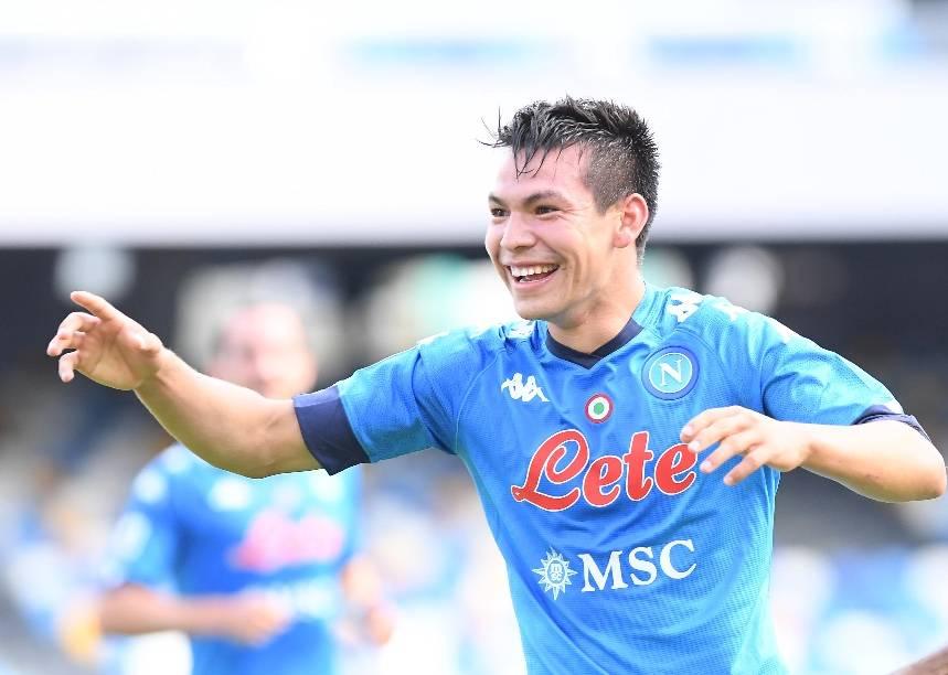 """""""Chucky"""" Lozano anota doblete en la goleada del Napoli sobre el Atalanta"""