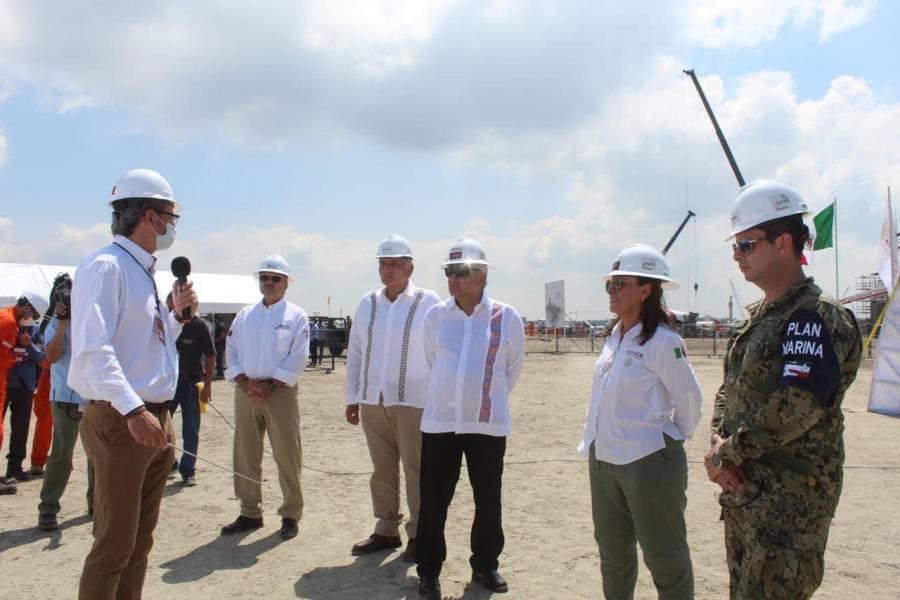 Dos Bocas se inaugurará el 1 de julio de 2022, asegura López Obrador