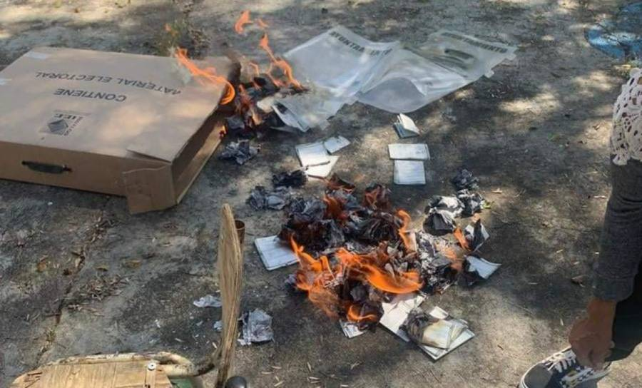 Investiga FEDE quema de material electoral en Hidalgo