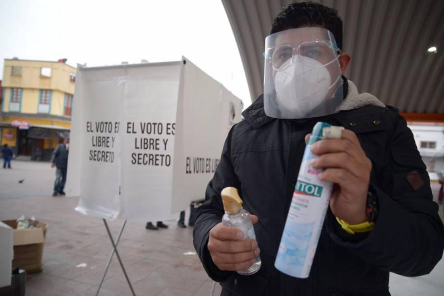 Estas son las medidas sanitarias para acudir a votar en comicios de Hidalgo y Coahuila