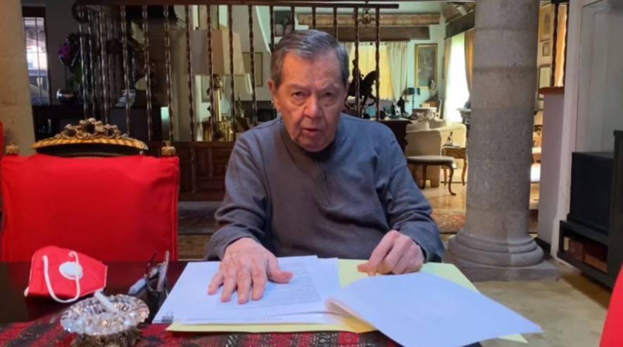 Muñoz Ledo destaca la detención de Cienfuegos y el neoliberalismo en México