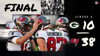 ¡Los arrollaron! Rodgers y sus Packers pierden ante Brady y Tampa Bay