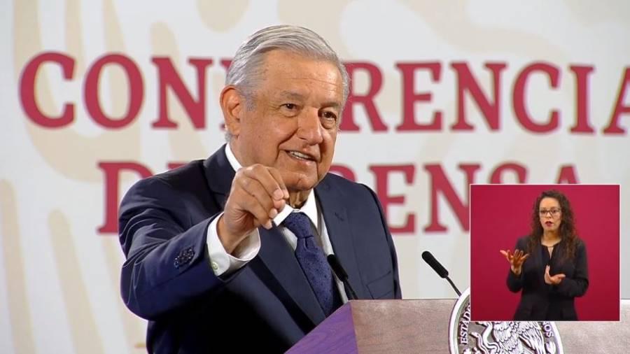 """""""Me hago la prueba de Covid-19 cada martes"""", revela AMLO"""