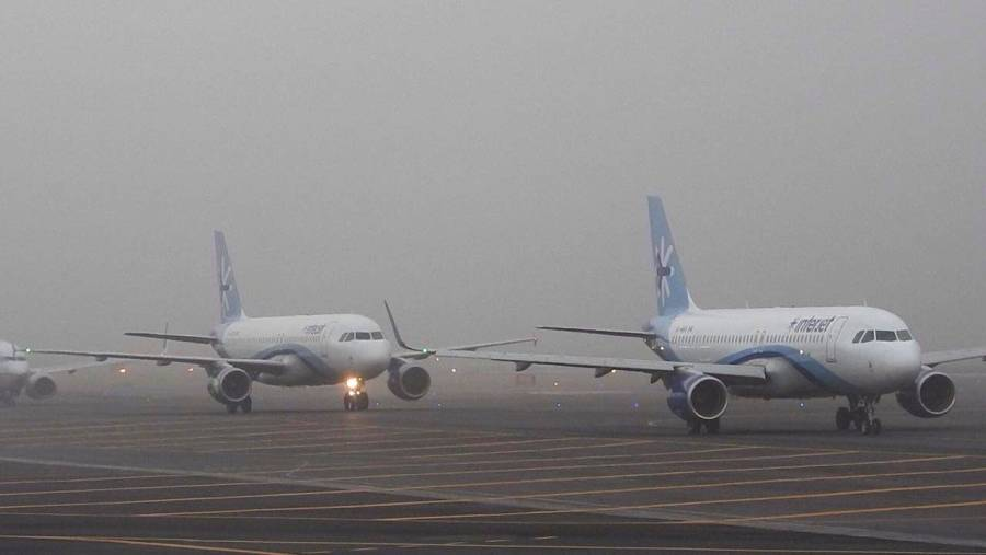 AICM reanuda aterrizajes y despegues tras complicaciones por banco de niebla