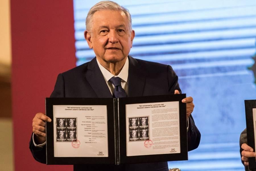 AMLO cancela timbre postal por 50 años de la muerte de Lázaro Cárdenas