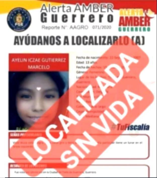 Encuentran mutilada a Ayelín, niña de 13 años reportada como desaparecida en Guerrero