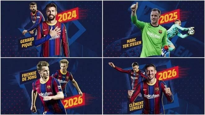 Barcelona anuncia múltiples renovaciones