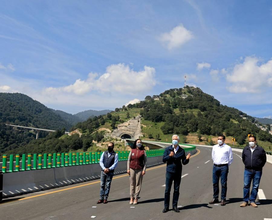 Alfredo del Mazo pone en operaciones la autopista Toluca-Naucalpan