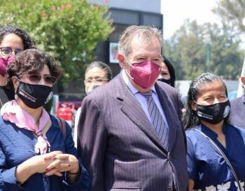 Tras contagio de Mario Delgado, Porfirio Muñoz Ledo le desea pronta recuperación