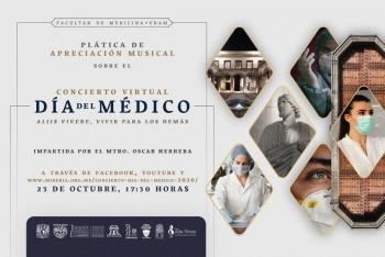 Personal médico será homenajeado con magno concierto de la UNAM