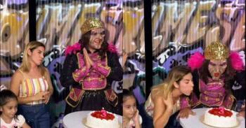 Karla Panini imita el video de la niña del pastel; internautas la critican