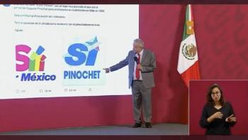 """Compara AMLO logo de """"Sí por México"""", con el de Pinochet"""
