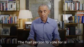 Antes del debate, Obama vota vía correo por Biden y Harris