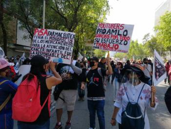 Marcha pro AMLO del Ángel de la Independencia al Zócalo