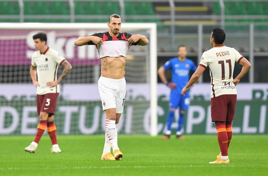 Una combativa Roma saca el empate ante el Milan de Zlatan