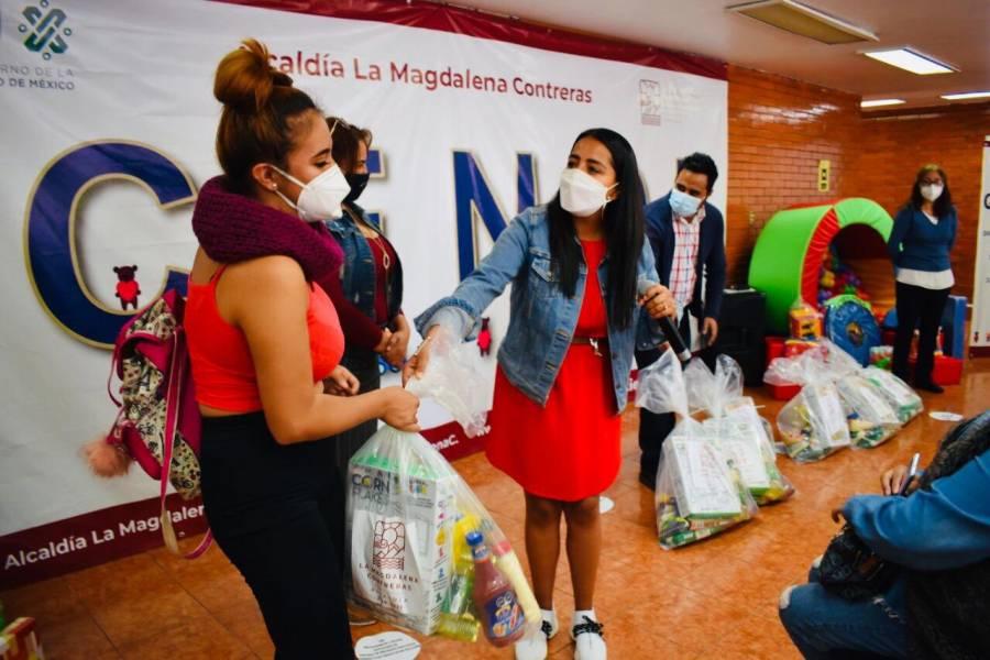 Alcaldía Magdalena Contreras envía a domicilio alimentos a niños de Cendis