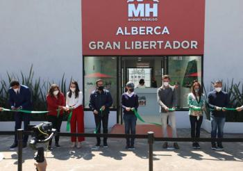 GCDMX INAUGURA ALBERCA EN LA MIGUEL HIDALGO