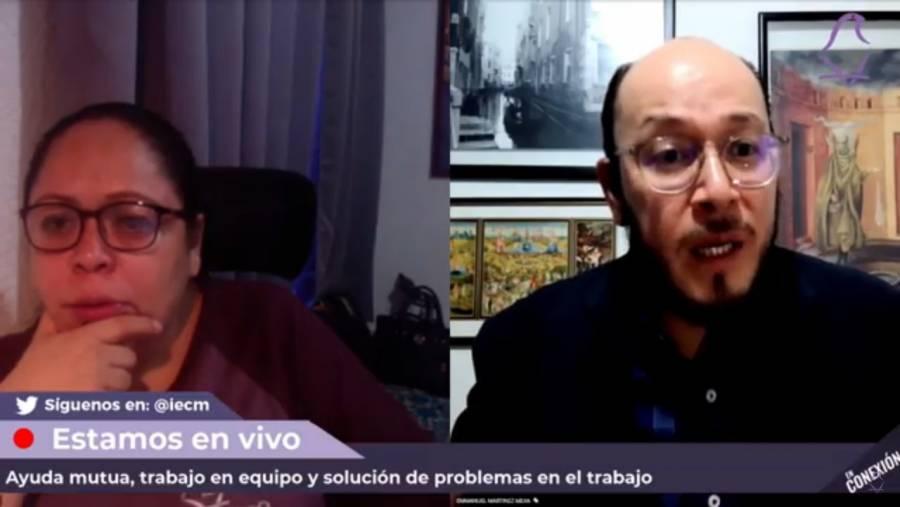 """Realiza IECM charla virtual En Conexión, con el tema """"Ayuda mutua, trabajo en equipo y solución de problemas en el trabajo"""""""