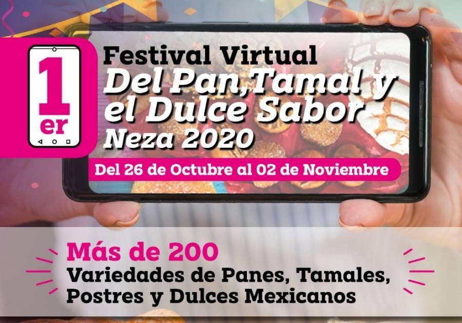Inicia primer Festival Virtual del pan, tamal y dulce sabor de Neza 2020