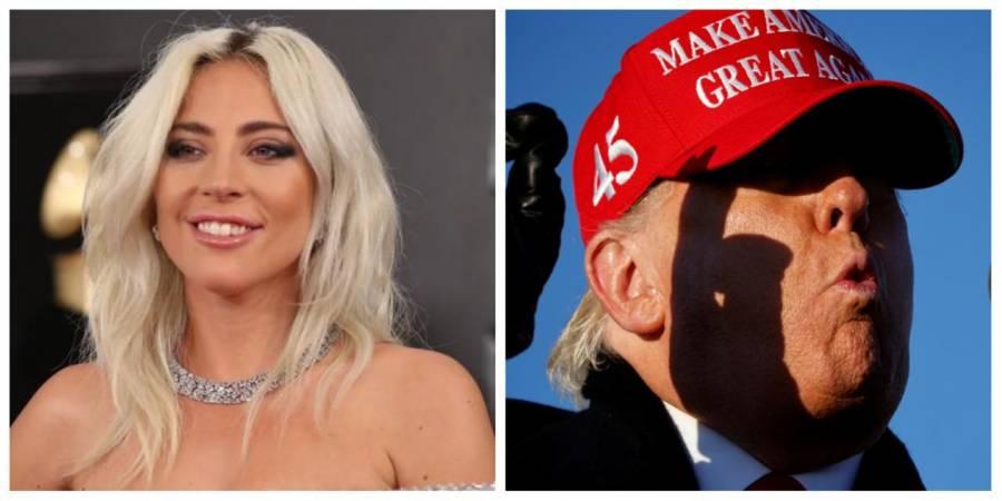 Lady Gaga y Trump se enfrentan previo a elecciones