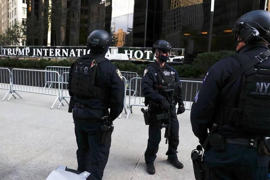 Refuerzan seguridad en ciudades de Estados Unidos en lugares de voto