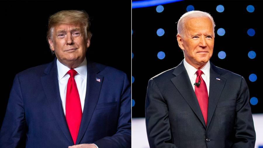 Trump y Biden están virtualmente empatados con el 86% escrutado en Florida