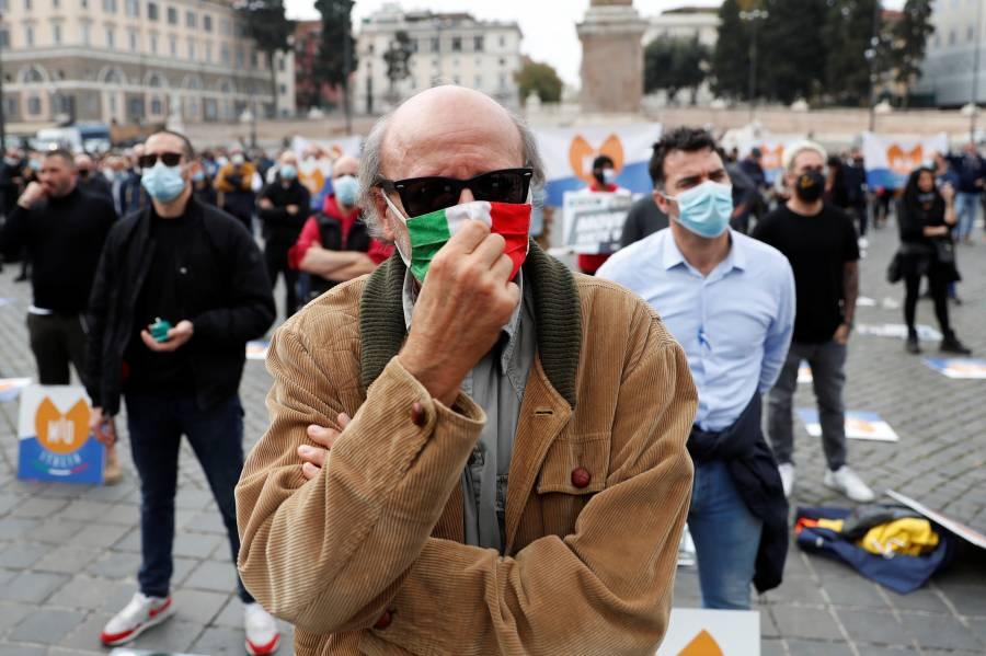 Italia reporta 353 muertes por COVID-19, cifra más alta desde mayo