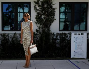 Melania Trump emite su voto en Florida