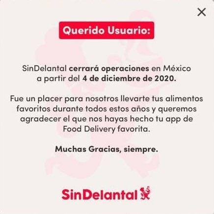 SinDelantal se va de México