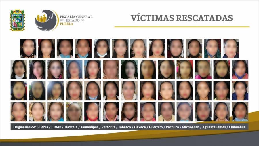 Rescatan 74 mujeres víctimas de explotación sexual en Puebla