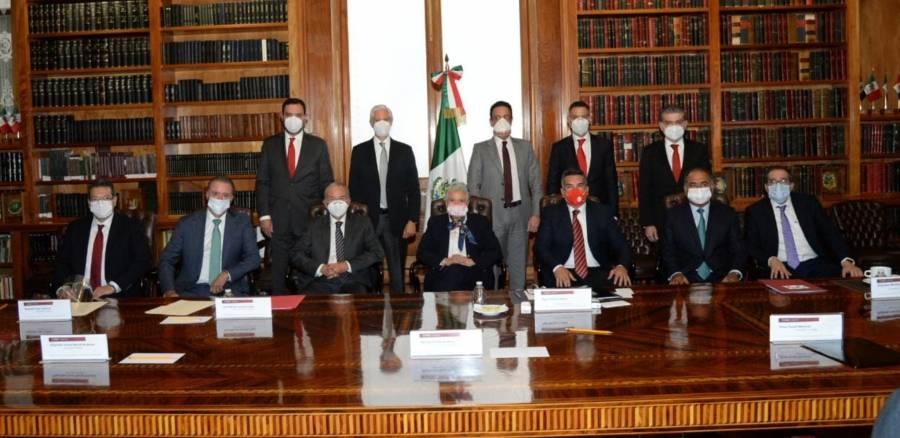 Sostiene Sánchez Cordero reunión con gobernadores del PRI