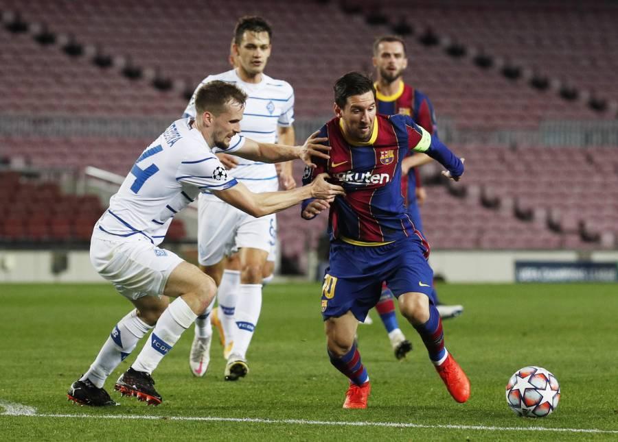 Barcelona sufre ante un Dynamo Kiev diezmado