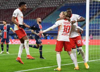 Leipzig sorprende al PSG y Juventus golea en la Champions
