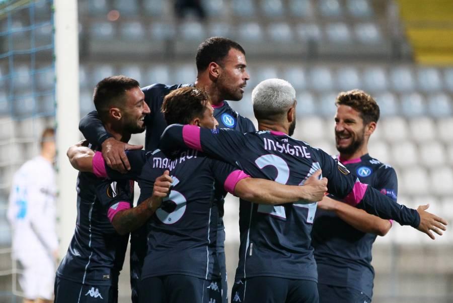 """Con una remontada, """"Chucky"""" y el Napoli vencen al Rijeka"""