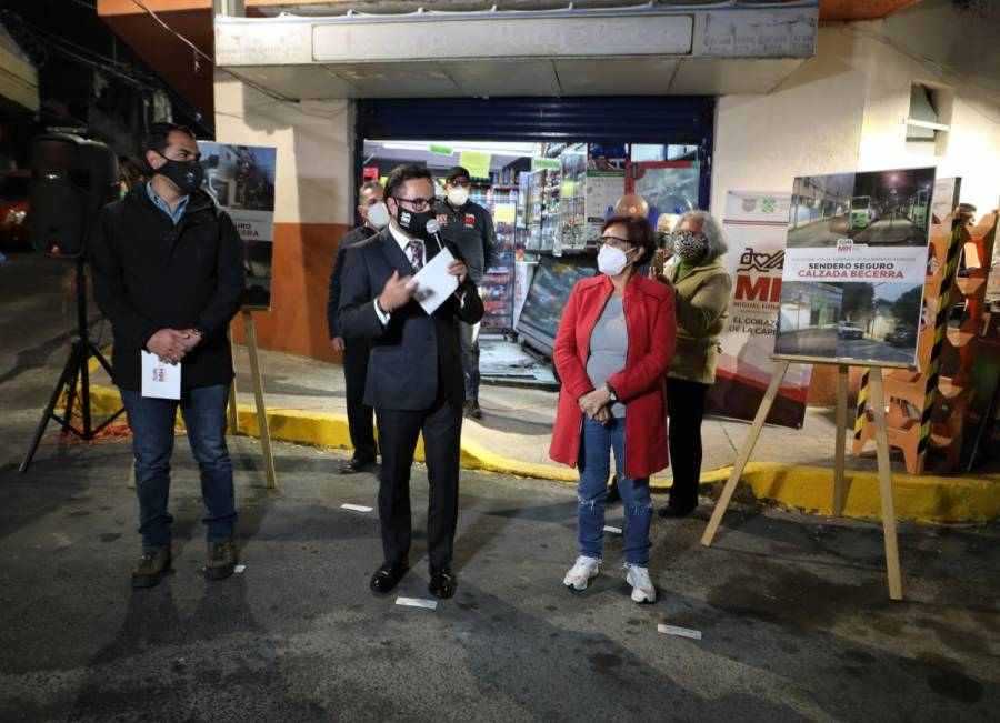 Inauguran sendero seguro en la Miguel Hidalgo como estrategia de seguridad