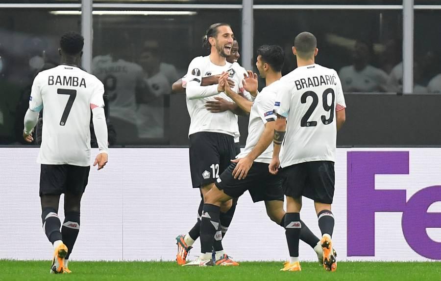 Europa League: Lille termina con el invicto del Milan en San Siro
