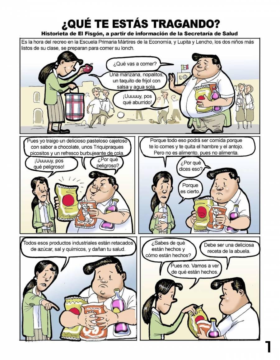 """AMLO presenta """"¿Qué te estas tragando?"""" Para combatir obesidad en México"""