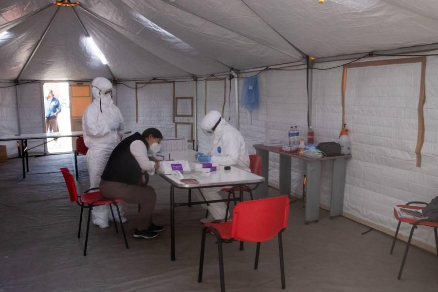Central de Abasto: Cruz Roja realiza pruebas Covid-19